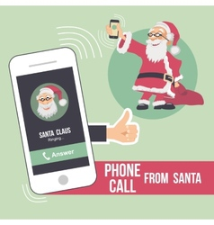 Christmas phone call from Santa vector image