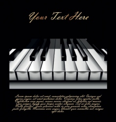 Piano key background vector