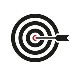 The target icon target symbol flat vector