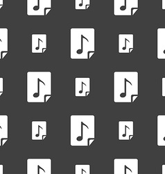 Audio mp3 file icon sign seamless pattern on a vector
