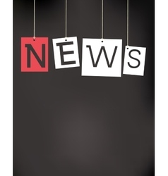 Hanging news labels vector