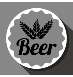 Cold and delicious beer vector
