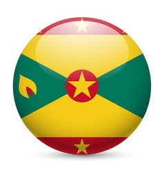 Round glossy icon of grenada vector