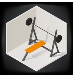 Bench press isometric vector