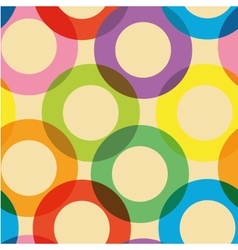 Pattern with colorful circles vector