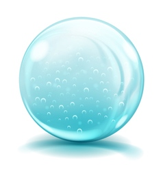 Big light blue glass sphere vector