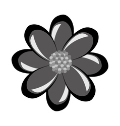 Black and grey flower graphic vector