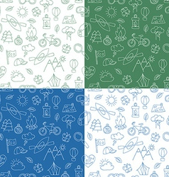 Seamless pattern with Ecotourism design elements vector image
