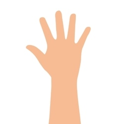 Hand human finger index icon vector