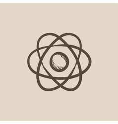 Atom sketch icon vector image