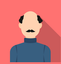 bald head icon flat single avatarpeaople icon vector image