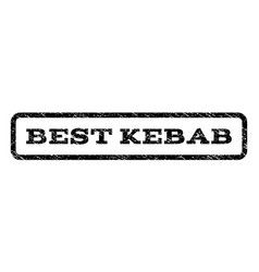 Best kebab watermark stamp vector