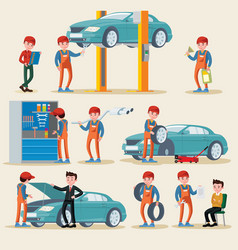 car service elements set vector image vector image
