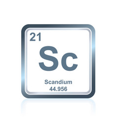 Chemical element scandium from the periodic table vector