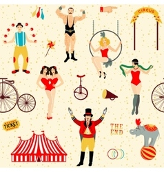 Colorful set with circus star vector image vector image