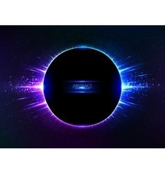 Dark blue shining cosmic ring vector