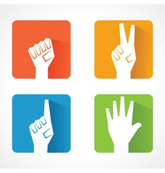 Different shape of hand vector image vector image