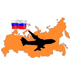 fly me to the Russia vector image vector image