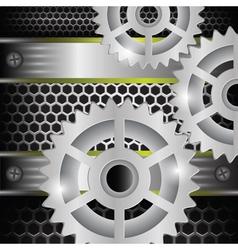 Gears background vector