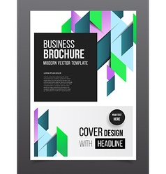 Geometric cover background brochure template vector