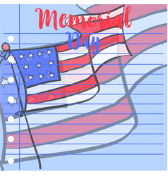 Gretting card memorial day style vector
