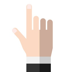 Hand pointing or touching vector image