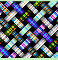 Interweaving plaid background vector