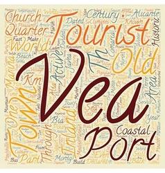 Javea a coastal paradise text background wordcloud vector