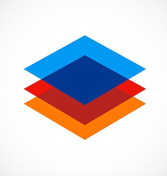 level square geometry color construction logo vector image