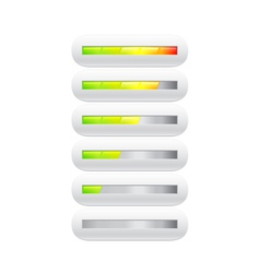 loading bar from green to red with segments vector image vector image
