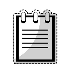 notepad pictogram icon image vector image vector image