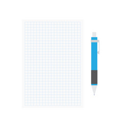 opened notepad with pen vector image vector image