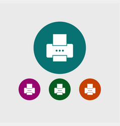 Printer icon simple vector