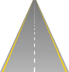 Road on white vector