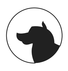 Silhouette of a dog head alaskan malamute vector image vector image