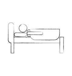 Sleeping man avatar icon vector