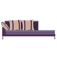 sofa icon couch furniture design isolated vector image vector image