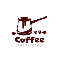 turkish coffee cezve pot flat icon isolated vector image