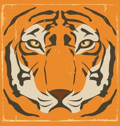 Vintage tiger stripes on grunge background vector