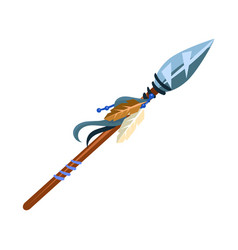 Warriors spear cold weapon native american indian vector