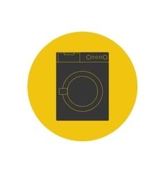 Washing machine silhouette vector image vector image