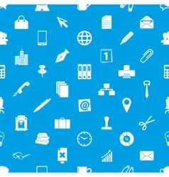 Office work theme simple icons blue and white vector