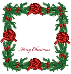 Christmas floral border vector