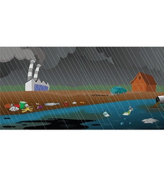 Pollution and garbage vector