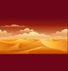 sahara sand dunes panorama vector image