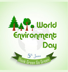 World environment day background with globe and gr vector
