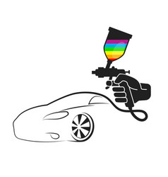 Spray for painting cars vector