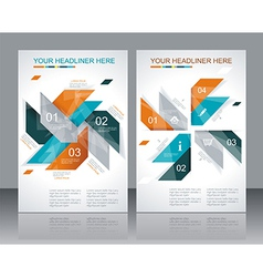 brochure template design with abstract elements vector image