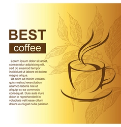 Coffe cup with coffee brunch vector
