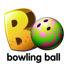 A letter b for bowling ball vector